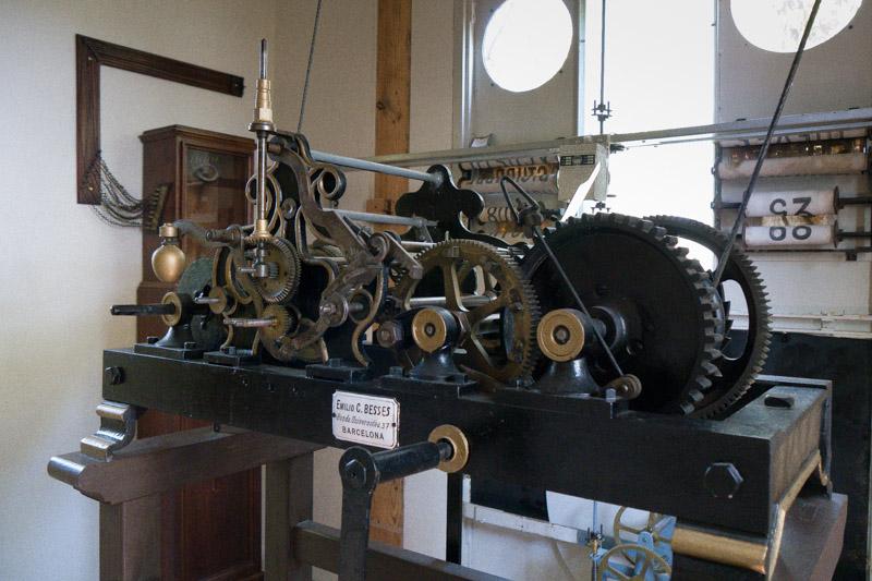 Maquinaria del reloj solar y lunar.
