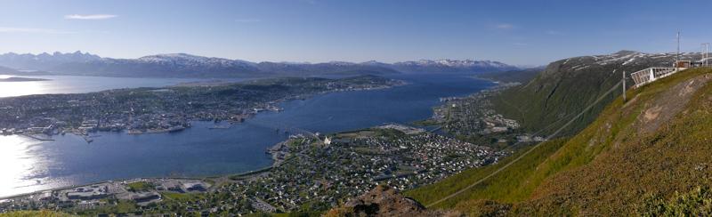 Tromsø, la ciudad más al norte de Noruega con mayor población. 70 mil habitantes.