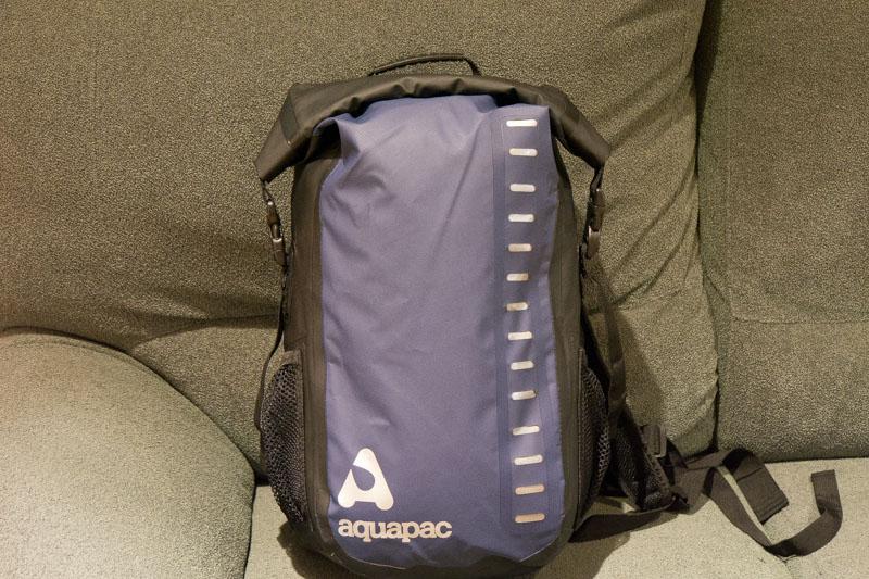 Aquapac 792 cerrada hacia abajo.