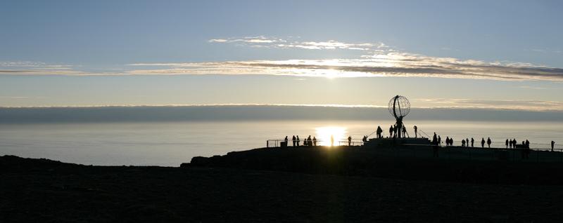 Cabo Norte en plena noche durante el verano.
