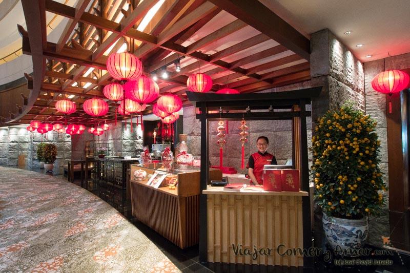 Stand en motivo de la celebración del año nuevo chino.