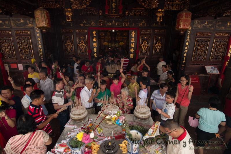Día de año nuevo en el templo Cheng Hoong Teng (Melaka, Malasia).