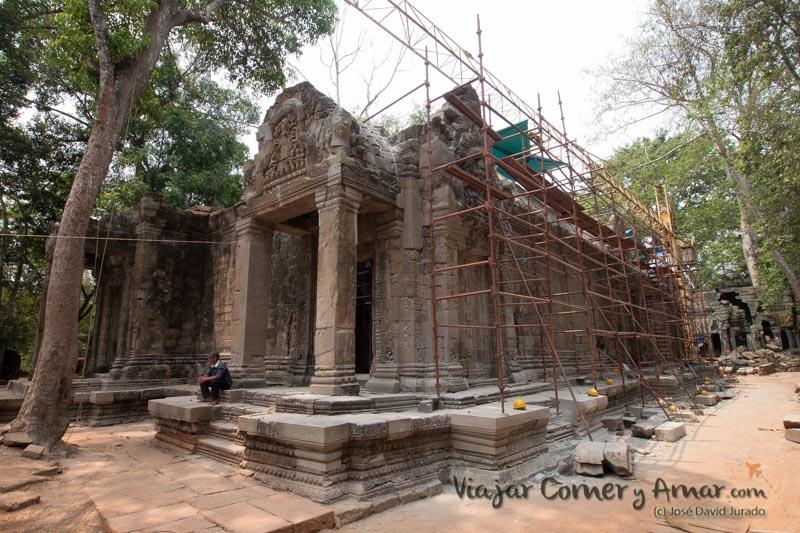 Reconstrucción de Ta Prohm está siendo llevada a cabo por India.