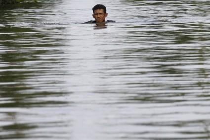 Literalmente, y por desgracia, Tailandia está con el agua al cuello.