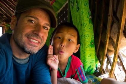 La convivencia con las familias nómadas en Mongolia, lo mejor.